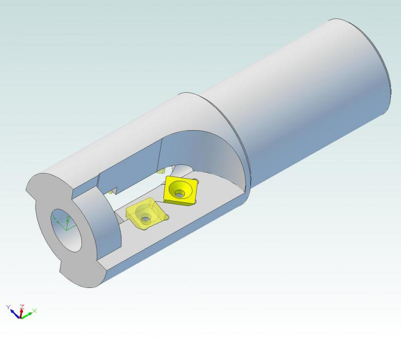 Carbide Inserted Hollow Mill